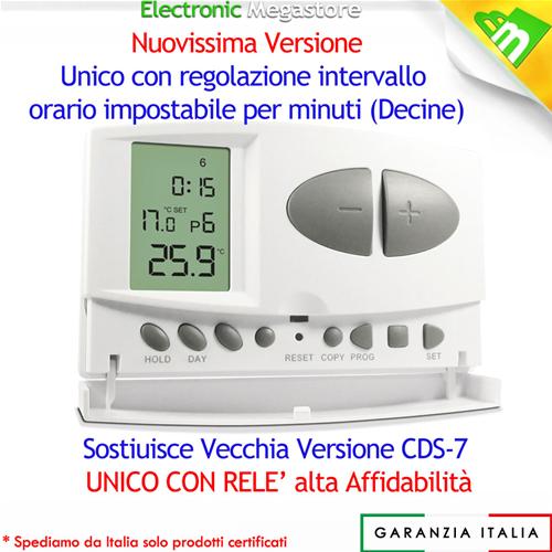 Cronotermostato settimanale digitale lafayette cds 7 ebay for Cronotermostato gbc