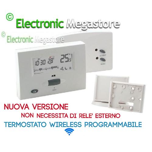 Termostato ambiente caldaia riscaldamento wireless senza for Cronotermostato gbc