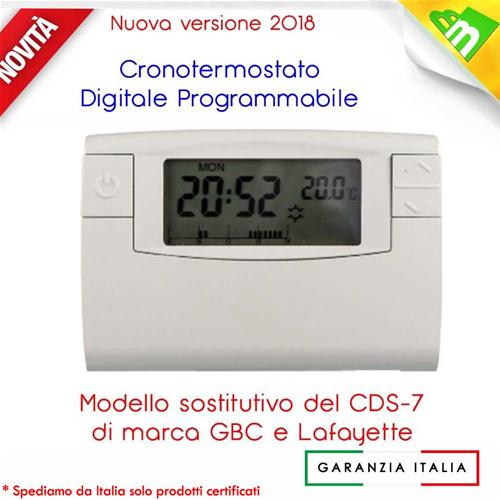 15968 cronotermostato digitale settimanale programmabile for Cronotermostato lafayette cds 30