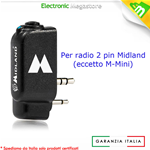 WA DONGLE - Adattatore Wireless 2 Pin Midland per radio G7 G9 MT5050 MT3030