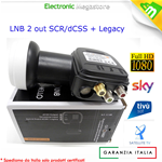 ILLUMINATORE / LNB / OCCHIO dCSS / SCR - 2OUT 1IN MIX TV GT-dLNB2T GT-SAT