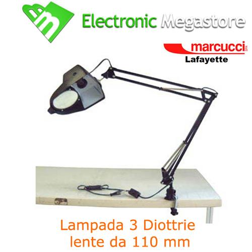 38616 Lampada Da Tavolo Con Lente Di Ingrandimento 3 Diottrie