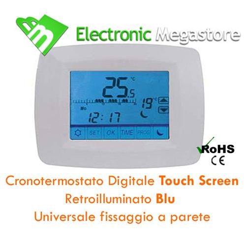 14665 cronotermostato digitale programmabile touch for Cronotermostato gbc