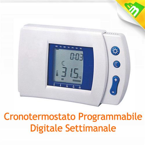 39577 cronotermostato digitale timer mkc display lcd hp for Cronotermostato gbc